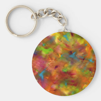 Rainbow Watercolor Keychain