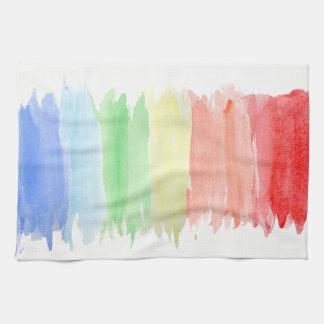Rainbow Watercolor Kitchen Towel