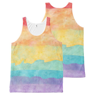 Rainbow Watercolor LGBT Pride All-Over Print Singlet