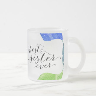 Rainbow watercolor ring modern colorful circle frosted glass mug
