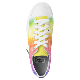 Rainbow watercolor shoes chido printed shoes
