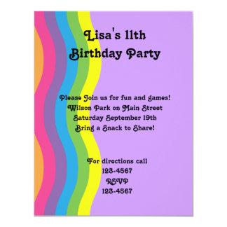 Rainbow Wave 11 Cm X 14 Cm Invitation Card