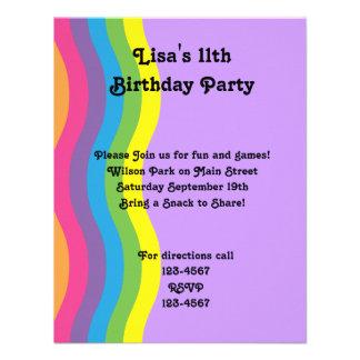 Rainbow Wave Personalized Invite