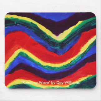 Rainbow Wave Mouse Pad