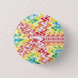 Rainbow Waves 3 Cm Round Badge