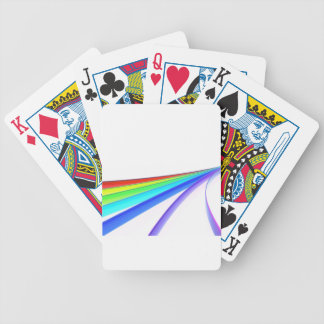 Rainbow waves bicycle playing cards