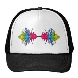 Rainbow Waves Mesh Hat