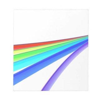 Rainbow waves notepad
