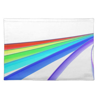 Rainbow waves placemat