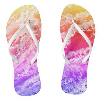 Rainbow Waves Thongs