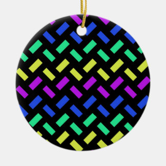 rainbow weave pattern ornaments