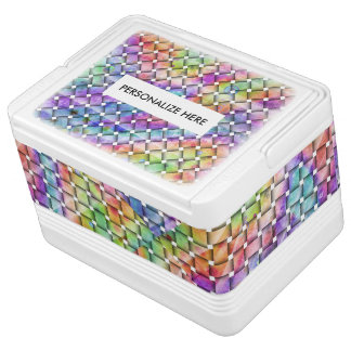 RAINBOW WEAVED COOLER
