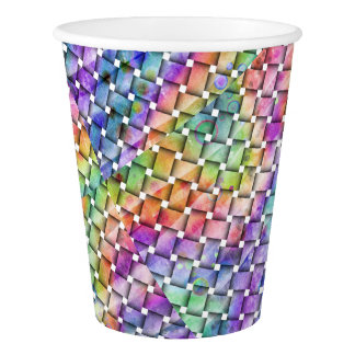 RAINBOW WEAVED PAPER CUP