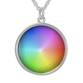 Rainbow Wheel Sterling Silver Necklace
