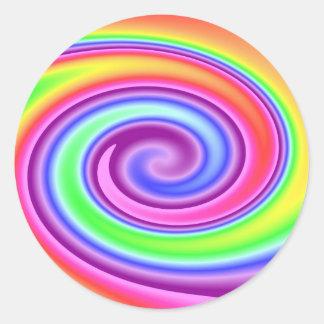 Rainbow Whirl Round Sticker