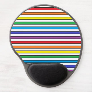 Rainbow, White and Black Stripes Gel Mouse Pad