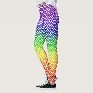 Rainbow White Heart Leggings e180e8f0b7494