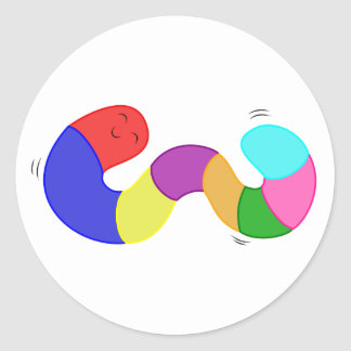 Rainbow Wiggle Worm Stickers