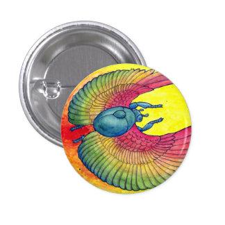 Rainbow Winged Scarab 3 Cm Round Badge