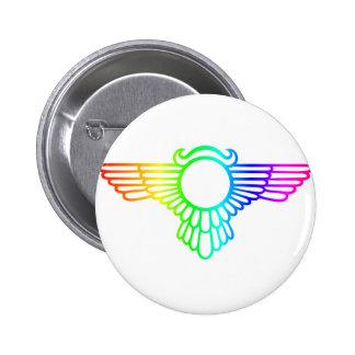 Rainbow Wings 6 Cm Round Badge