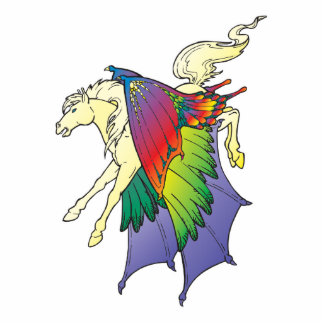 rainbow wings pegasus photo cutouts