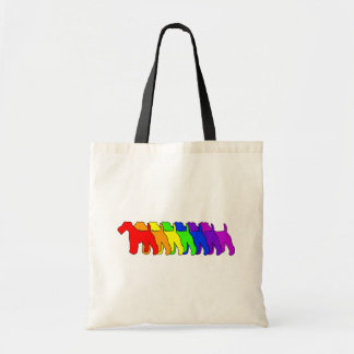Rainbow Wire Fox Tote Bag