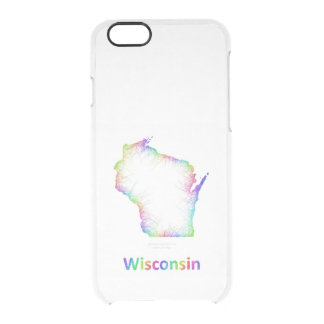Rainbow Wisconsin map Clear iPhone 6/6S Case