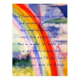 Rainbow Wishes (alternative 3) Postcard