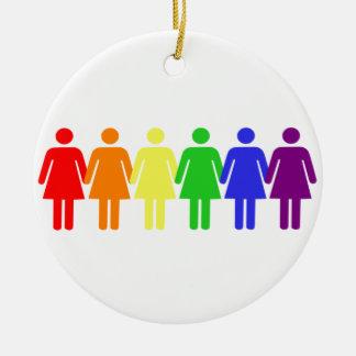Rainbow Women Ornaments