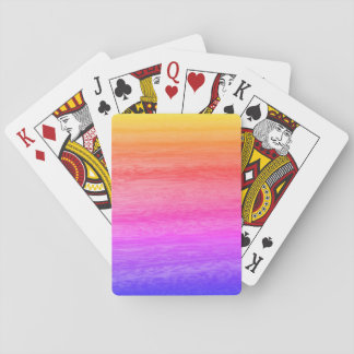 Rainbow Wood Effect Playing Cards