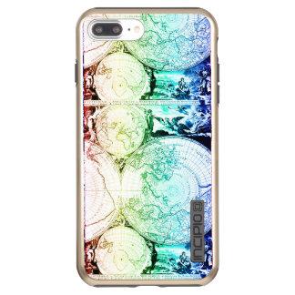 Rainbow World Map Atlas Design Incipio DualPro Shine iPhone 8 Plus/7 Plus Case