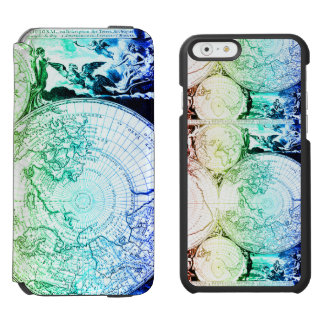 Rainbow World Map Atlas Design Incipio Watson™ iPhone 6 Wallet Case