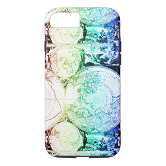 Rainbow World Map Atlas Design iPhone 8/7 Case