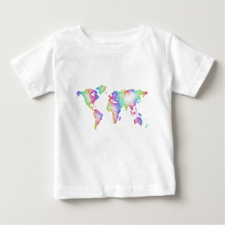 Rainbow World map Baby T-Shirt