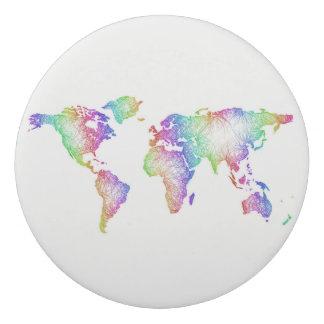 Rainbow World map Eraser