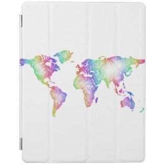 Rainbow World map iPad Cover