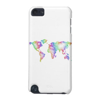 Rainbow World map iPod Touch (5th Generation) Covers