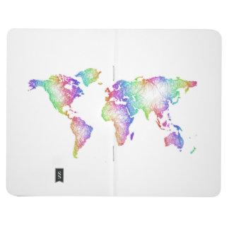 Rainbow World map Journal