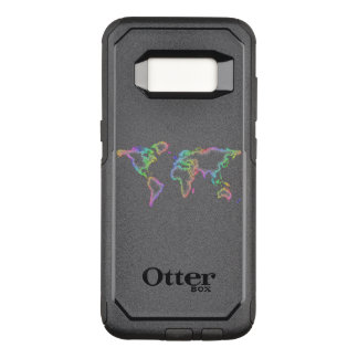 Rainbow World map OtterBox Commuter Samsung Galaxy S8 Case