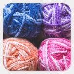 Rainbow yarn sticker