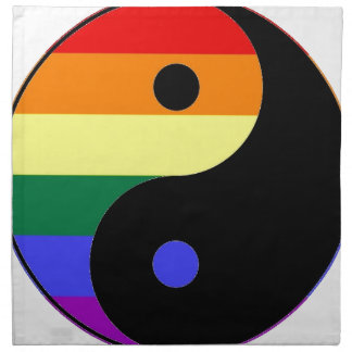 Rainbow Yin and Yang - LGBT Pride Rainbow Colors Napkin