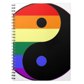 Rainbow Yin and Yang - LGBT Pride Rainbow Colors Notebooks