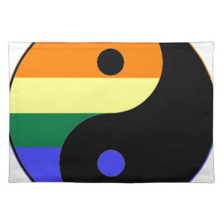 Rainbow Yin and Yang - LGBT Pride Rainbow Colors Placemat