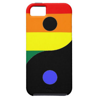 Rainbow Yin and Yang - LGBT Pride Rainbow Colors Tough iPhone 5 Case