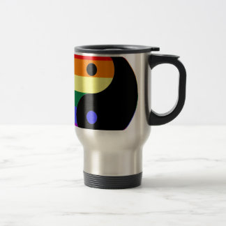 Rainbow Yin and Yang - LGBT Pride Rainbow Colors Travel Mug