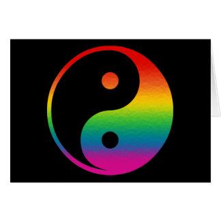 Rainbow Yin Yang Card