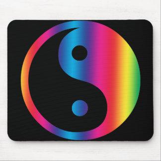 Rainbow Yin Yang Mouse Pad