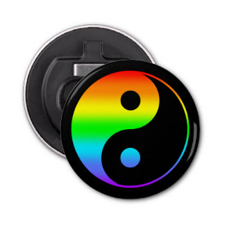 Rainbow Yin Yang Symbol Bottle Opener