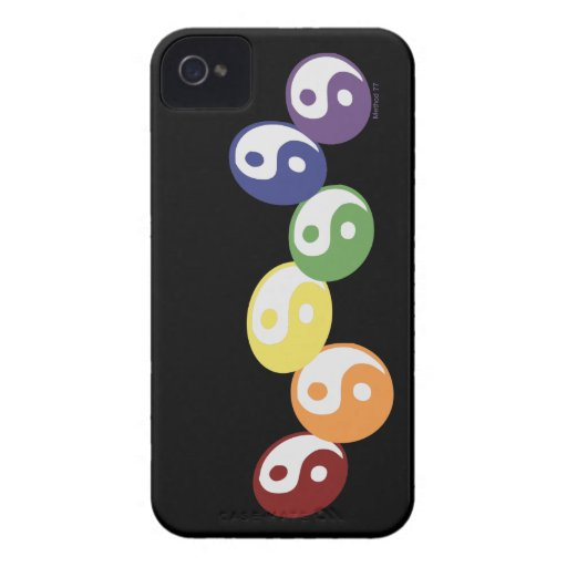 Rainbow Ying Yang Blackberry Cases