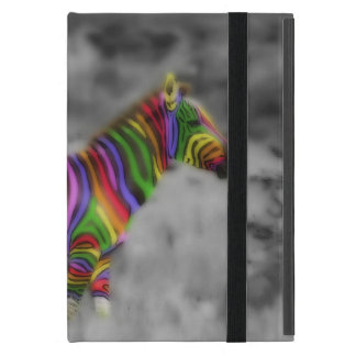 Rainbow Zebra Cover For iPad Mini